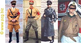 Uniforms (reporduction) of Hitler's Germany and Nazi Third